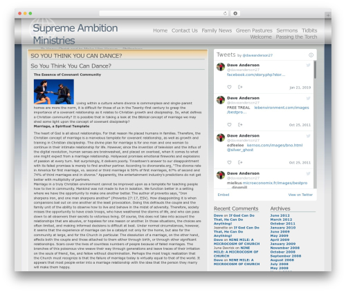 WordPress theme Andreas04 - supremeambition.com