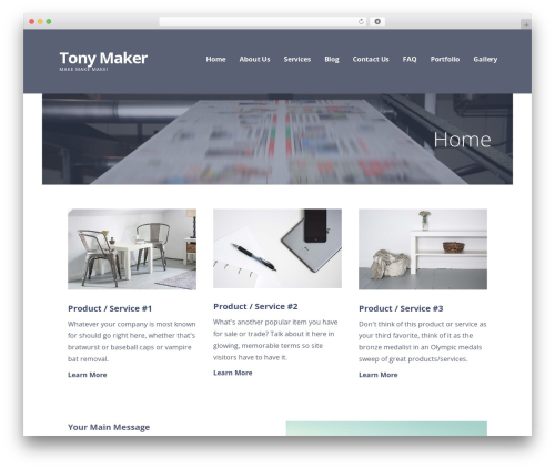 WordPress theme Ascension - tonymaker.com