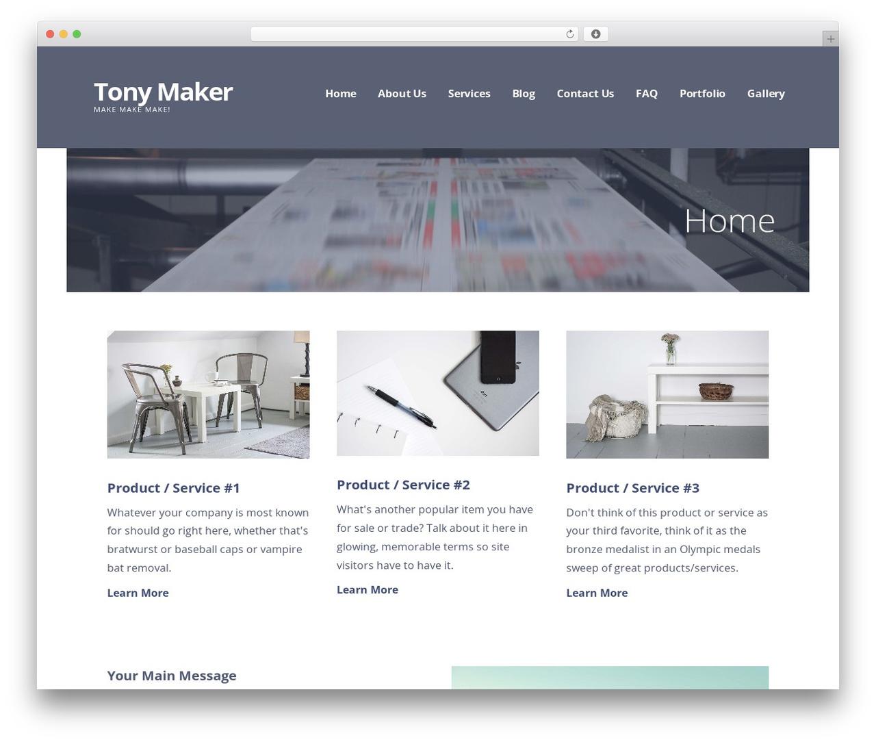 WordPress theme Ascension - tonymaker.com