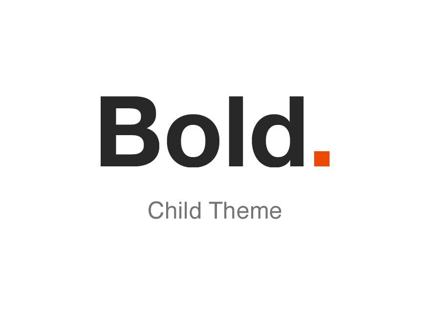 WordPress theme Bold. Child