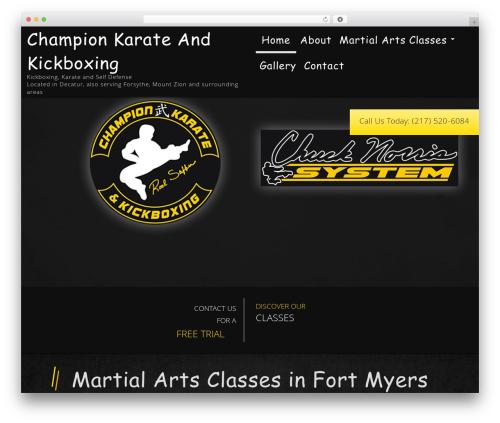 WordPress theme Martial Arts V8 - rodsafferkarate.com