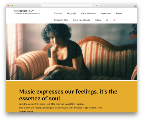 WordPress theme Rectangulum - aysunestefanie.com