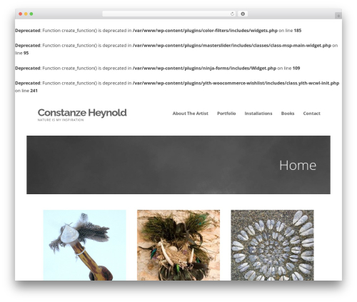 WordPress website template Ascension - constanzeheynold.com