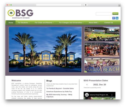 Your Web Layout WordPress theme - bsginterns.com