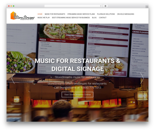 AccessPress Parallax WordPress shopping theme - restaurantmusicservice.com