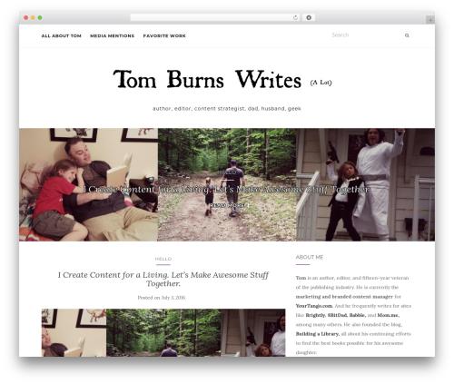 Activello free WordPress theme - tomburnswrites.com