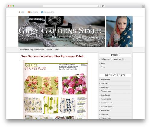AppleX landscaping WordPress theme - greygardensstyle.com