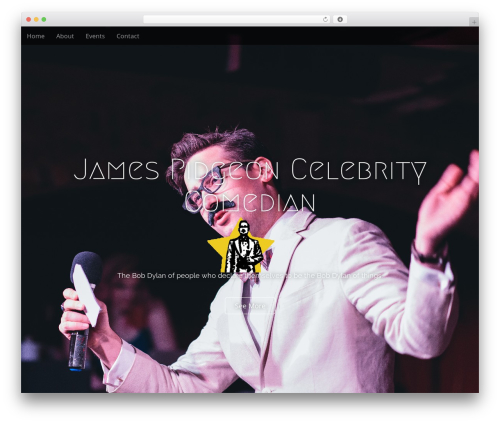 Arcade Basic best free WordPress theme - celebritycomedian.com