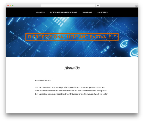 Argent free WordPress theme - eastvaleit.com