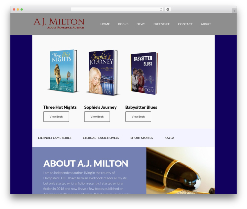 Author Pro WordPress theme design - ajmilton.com