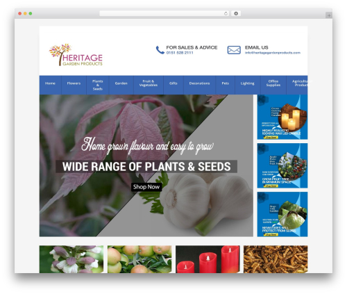 Avion landscaping WordPress theme - heritagegardenproducts.com