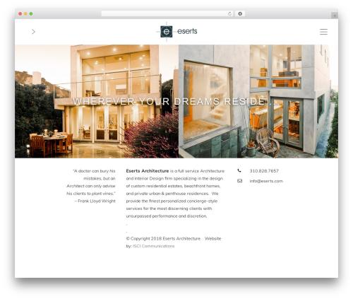 Best WordPress template Rayleigh - eserts.com