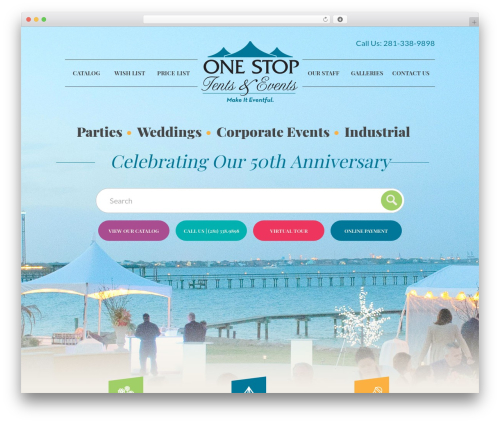 Big Splash Web Design WordPress theme - onestopparty.com