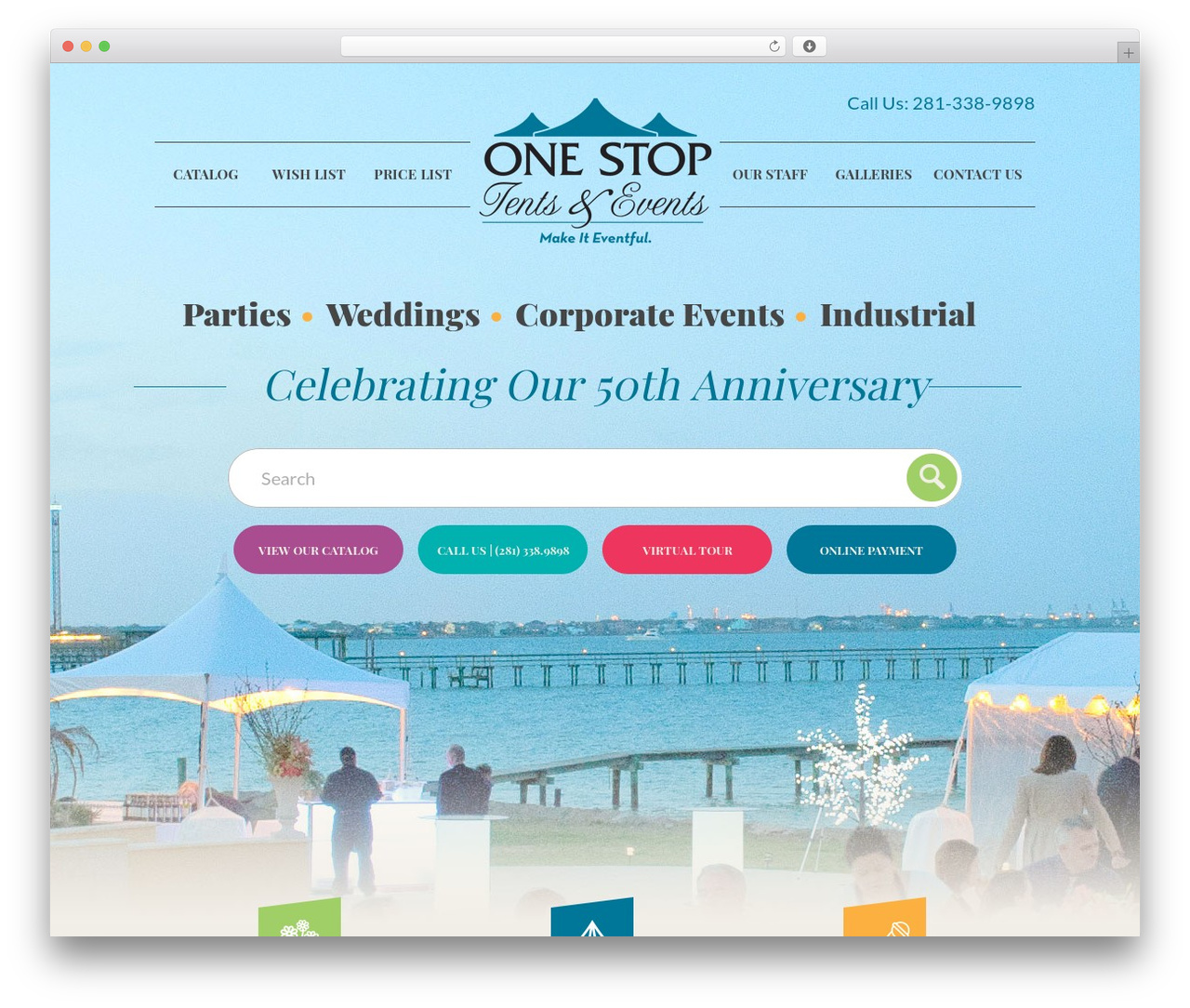 Big Splash Web Design WordPress theme - onestopparty.com