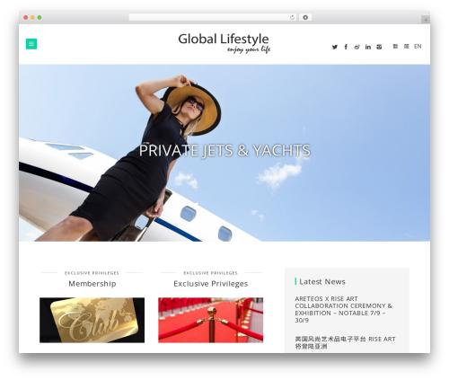 Brook WordPress page template - glifestyle.com