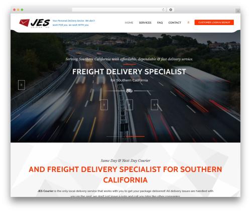 Cargo template WordPress - jescourier.com
