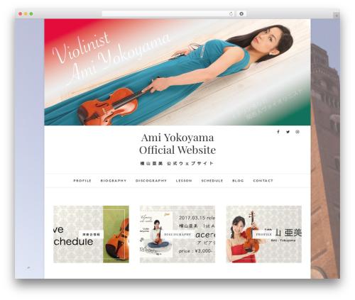 Child WordPress website template - ami-yokoyama-violino.com