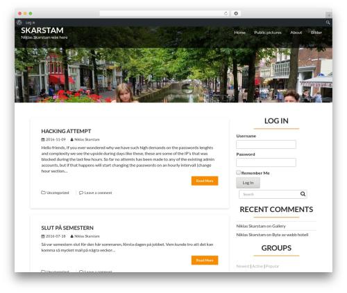 Corporate Plus template WordPress free - skarstam.com