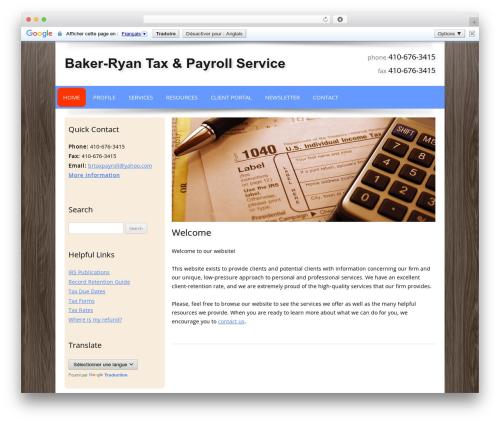 Customized company WordPress theme - bakerryantax.com