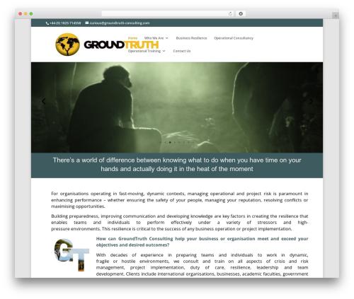 Divi premium WordPress theme - groundtruth-consulting.com