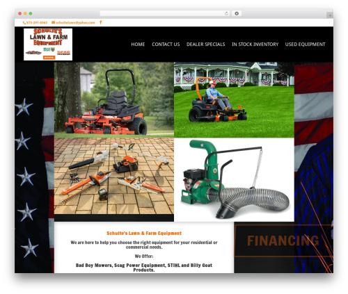 Divi WordPress page template - schulteslawncare.com