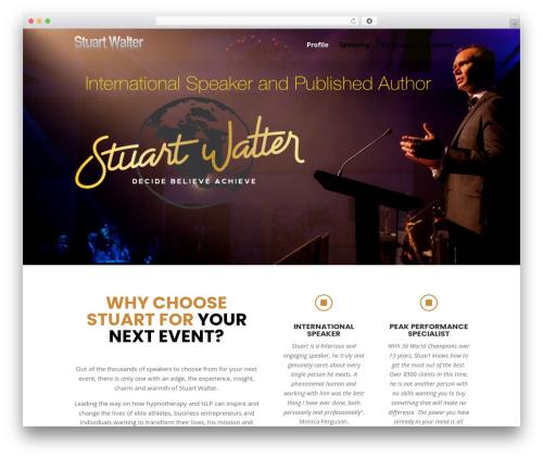 Divi WordPress template - stuartwalter.com