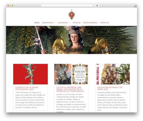 Divi WordPress theme - hermandadsanrafael.com