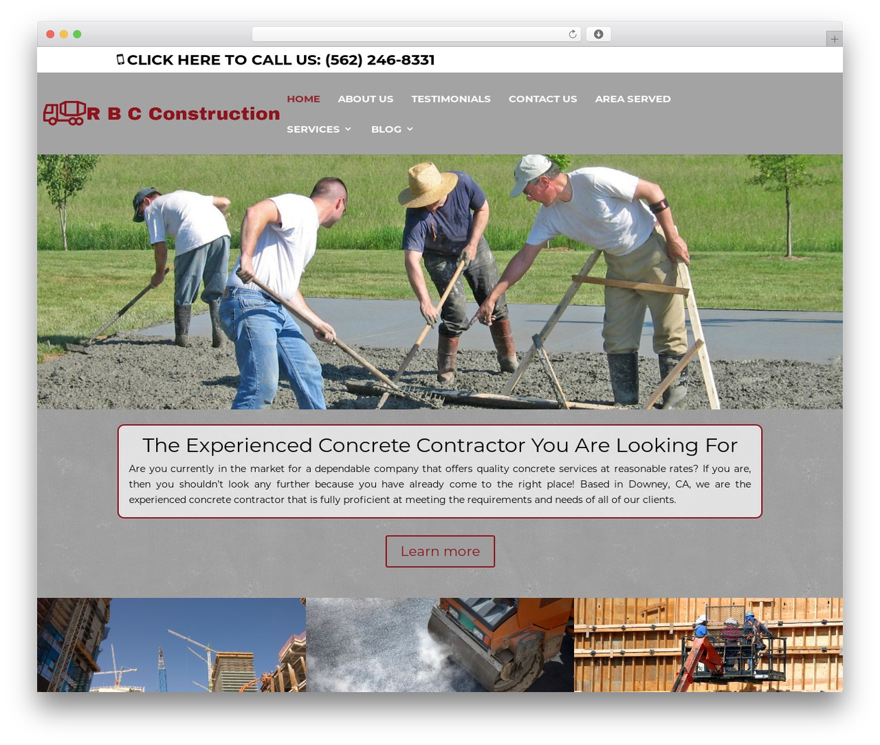 Divi WordPress website template - rbcconstructionca.com