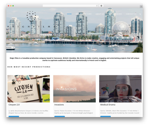 DP Blend WordPress theme - reign-films.com