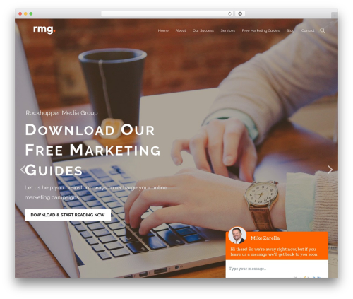 Engage WordPress theme - rockhoppermediagroup.com