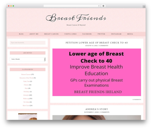 Evelyn Rose (pipdig) WordPress page template - breastfriendsireland.com