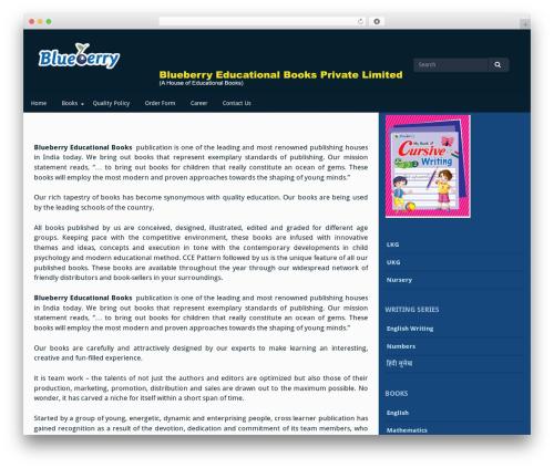 Gillian free website theme - blueberryeducationalbooks.com