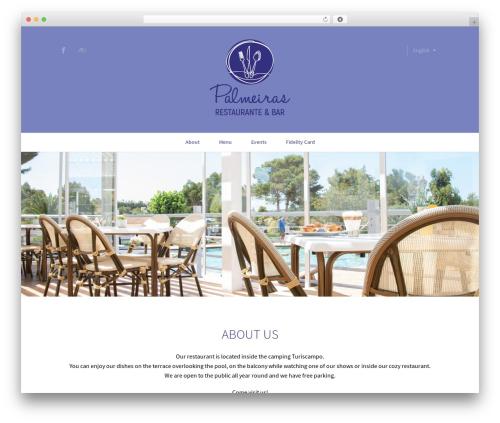 Gourmet WordPress theme - restaurantepalmeiras.com