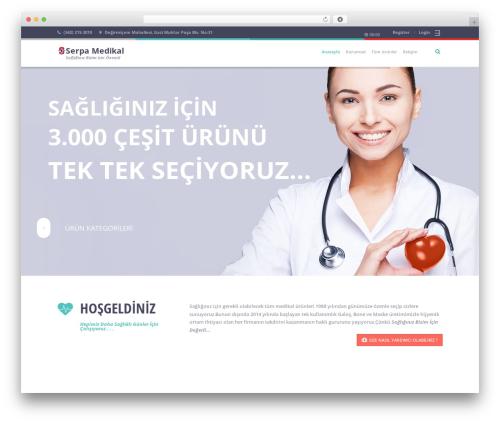 Healthandcare WordPress theme design - serpamedical.com