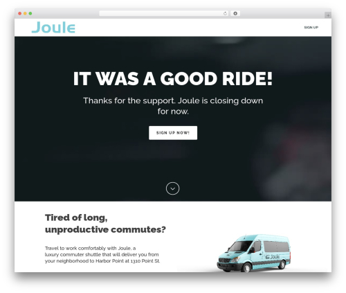 Jupiter WordPress page template - ridejoule.com