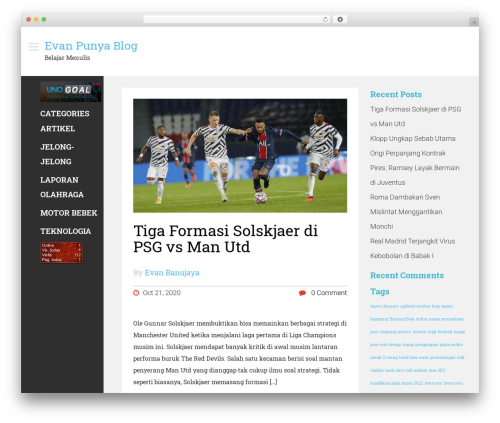 Magazie Minimal WordPress template free - sharmooota.com