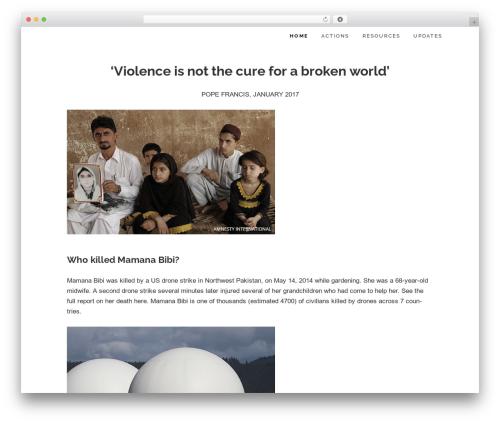 Maisha Lite template WordPress free - takeourbloodinstead.com