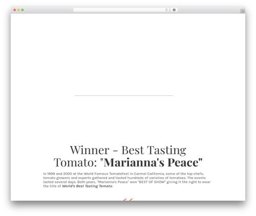 Minus WordPress theme - domegrownfarms.com