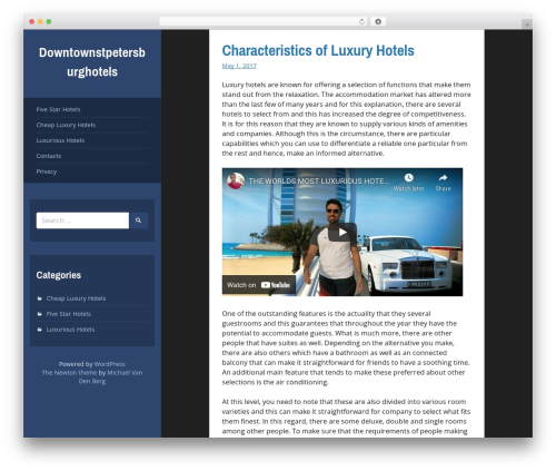 Newton free WP theme - downtownstpetersburghotels.com