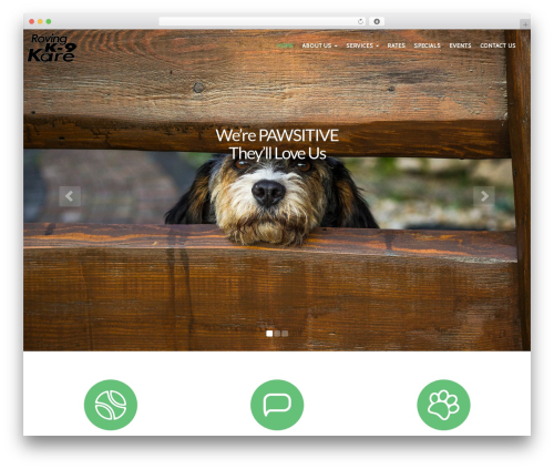 PetCare WordPress theme design - rovingk9kare.com
