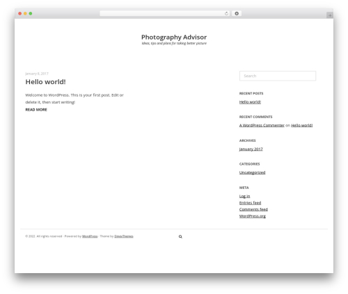 Photoline Lite template WordPress - fotographyadvisor.com