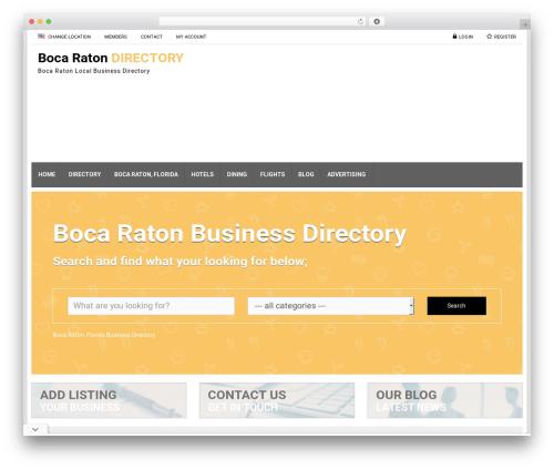 Responsive Business Theme WordPress template for business - bocaraton-directory.com