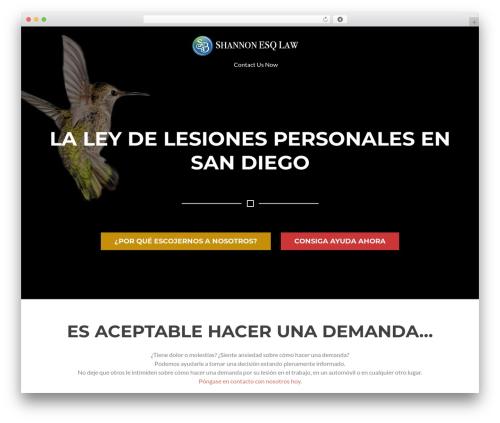 Rise Lite WordPress theme - lesionadoenaccidentes.com