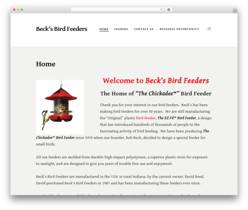 Scripted WordPress theme download - becksbirdfeeders.com