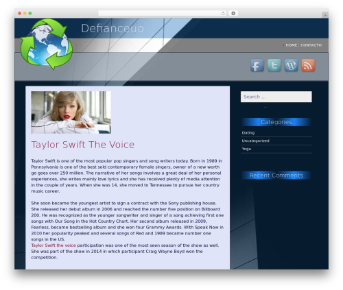 SG Simple free WordPress theme - defianceuo.com