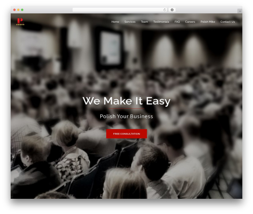 Sydney WordPress template free - polishyourbusiness.com