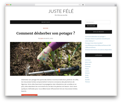 Telegraph WordPress page template - juste-fais-le.com