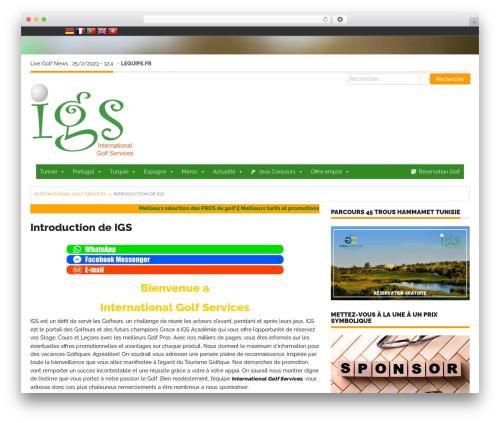 Theme WordPress Endolf - internationalgolfservices.com