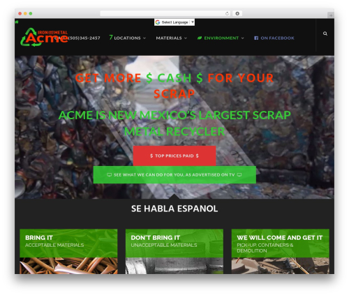 Theme WordPress Jump Start - acmeironandmetal.com