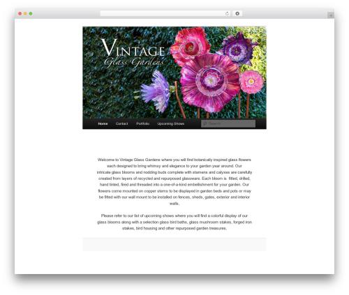 Twenty Eleven free WordPress theme - vintageglassgardens.com